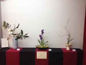 Exposición de ikebanas en el casal de la Falla Humanista Mariner. Muestra realizada por Sokosai
