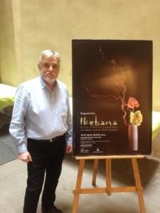 El secretario de la asociación, Sebastián Marco, en la presentación del cartel de la exposición